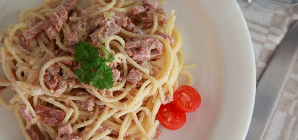 Recept vegetarisk Pasta Carbonara, utan ägg och mjölk