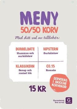 Menystyrt vego 50/50