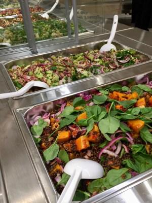 Buffé med grönsaker