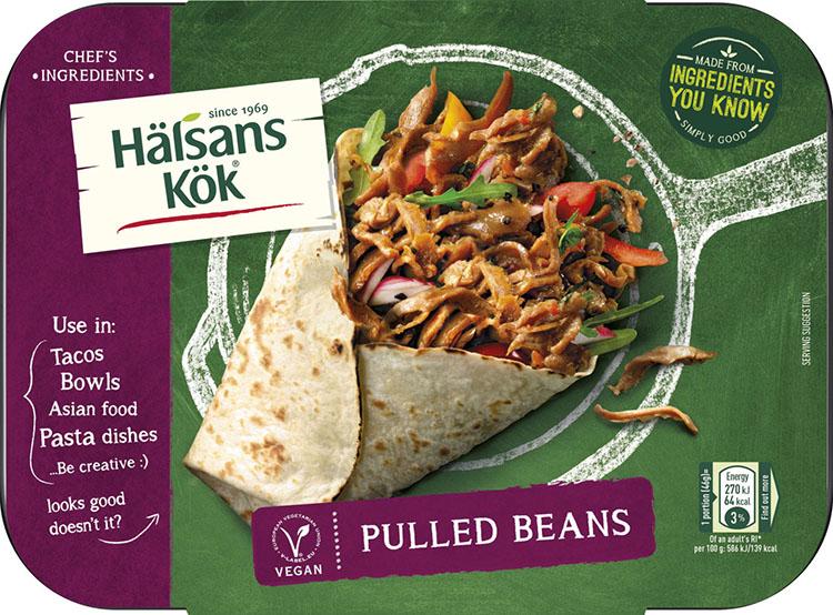 En livsmedelsförpackning från Hälsans kök
