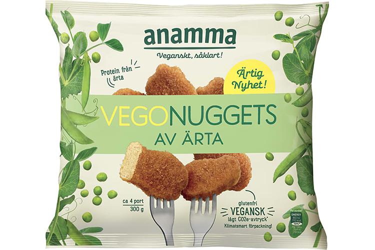 Produktförpackning av Anamma Vegonuggets