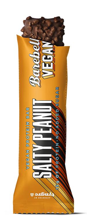 Orange proteinbarsförpackning från Barbells