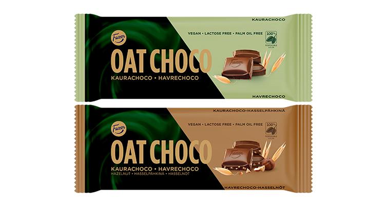 Två chokladkakor Oat Choco
