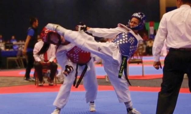 U. S. National Taekwondo Team members coach UVU club