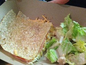 Unchicken Gluten Free Wrap from the New York Vegetarian Food Festival