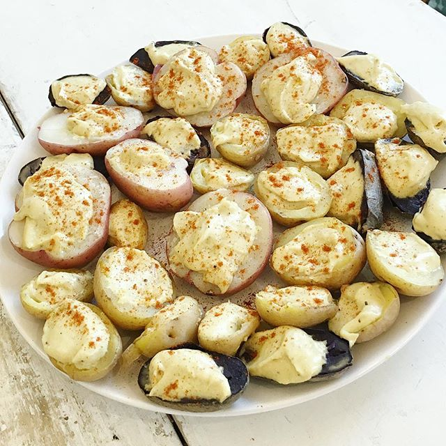 All the deviled potatoes 🏻