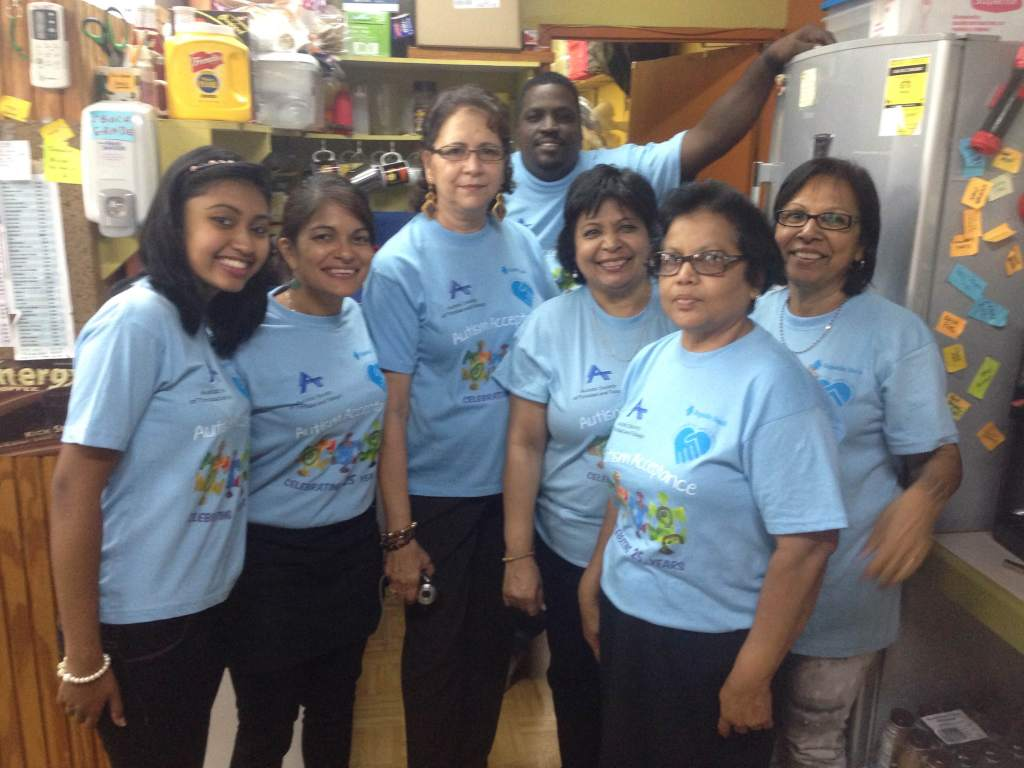 Veg Out staff with Tere