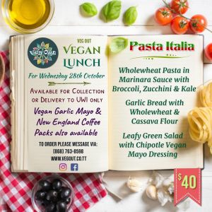 Wednesday 28th October Vegan Lunch