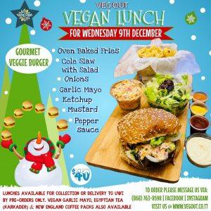 Wednesday 9th December Vegan Lunch