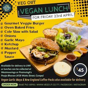 Friday 23rd April Vegan Lunch
