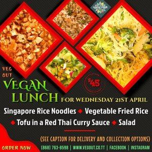 Wednesday 21st April Vegan Lunch