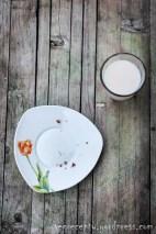 Rýžové mléko a drobky z mrkvovo-jablečné buchty