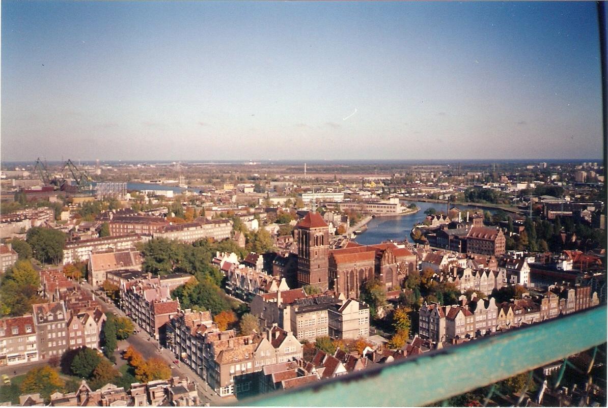 Vista Panorâmica de Gdansk