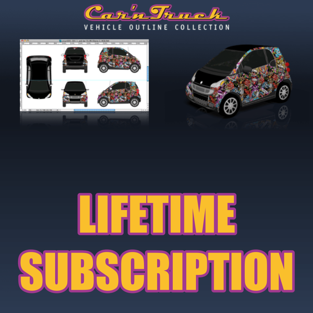 Car 'n Truck Vehicle Outline Collection - Lifetime Subscription