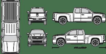 Chevy Silverado 350 Truck Template