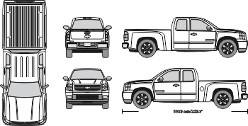 Chevy Silverado 350 Vehicle Template