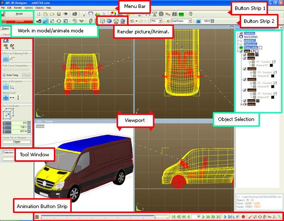 vehicle template rendering workspace