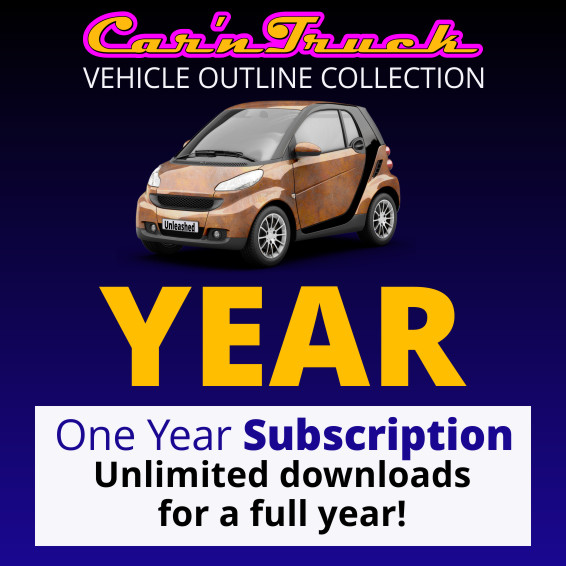 Car 'n Truck Vehicle Outline Collection - One Year Subscription