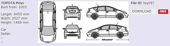 Free Toyota Prius Vehicle Template