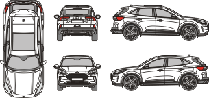 FORD Kuga 2019 vehicle template