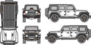 JEEP Wrangler 2019 vehicle template