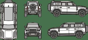 LANDROVER Defender 2019 vehicle template