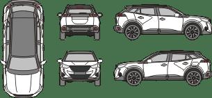 PEUGEOT 2008 2019 vehicle template