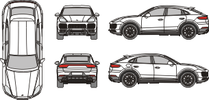 PORSCHE Cayenne Coupe 2020 vehicle template