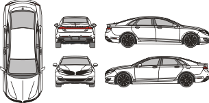 LINCOLN MKZ 2013 Vehicle Template