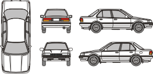 TOYOTA Corolla 1983 template