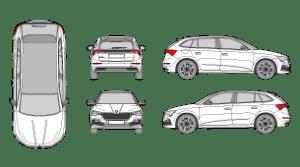SKODA Scala 2018 Vehicle Template