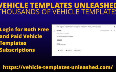 Login for Both Free and Paid Vehicle Templates Subscriptions