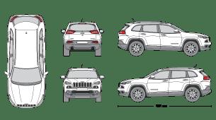 JEEP Cherokee 2014 Vehicle Template