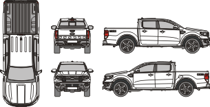 FORD Ranger 2020 vehicle template