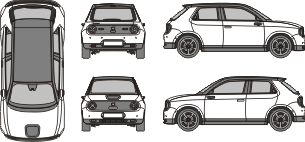 HONDA E 2020 vehicle template