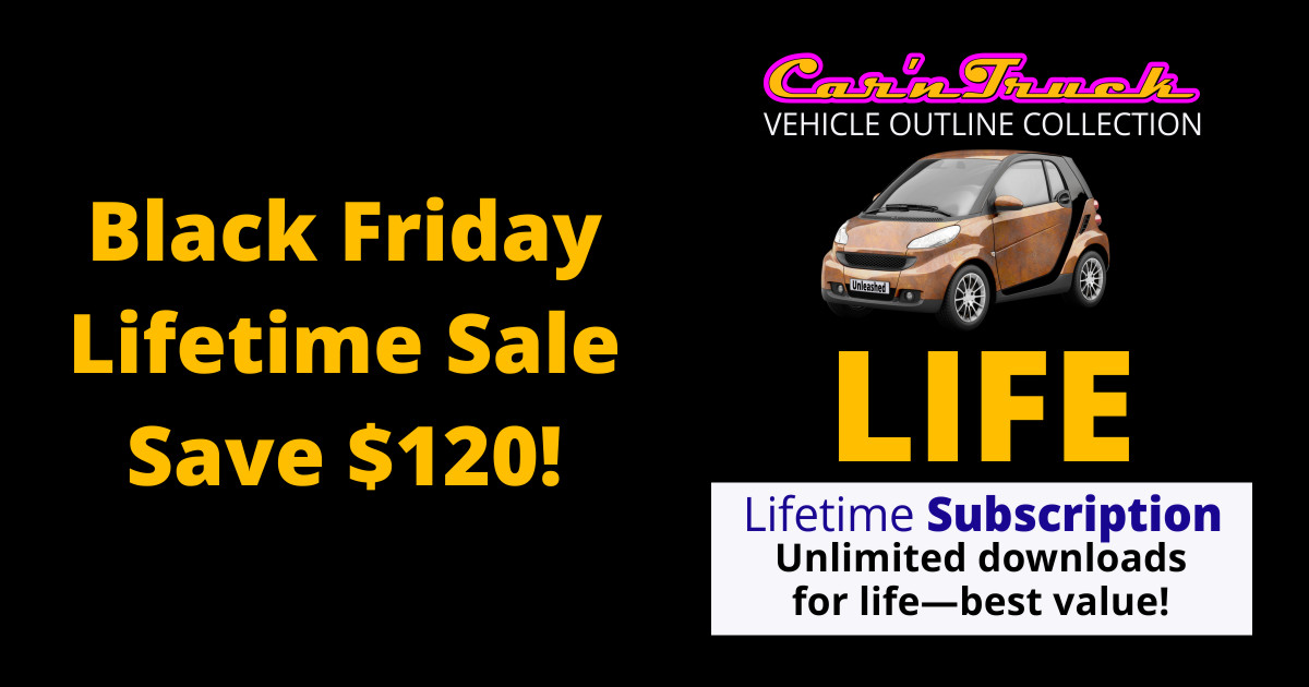 Vehicle Templates Lifetime Black Friday 2020 Sale