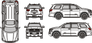 TOYOTA Sequoia 2020 Vehicle Template