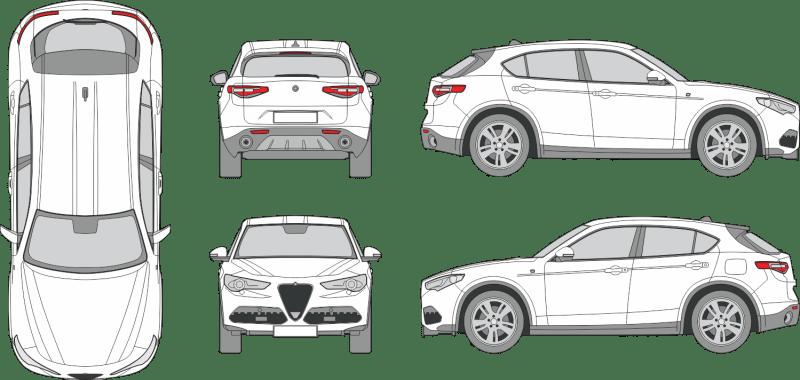 Alfa Romeo Stelvio Ti 2020 Vehicle Template