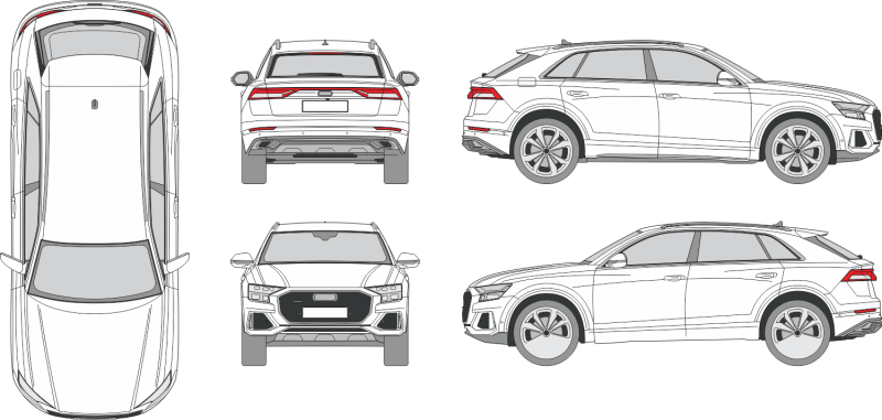 Audi Q8 2020 Vehicle Template