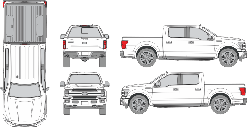 Ford F-150 Crew Cab 2019 Vehicle Template