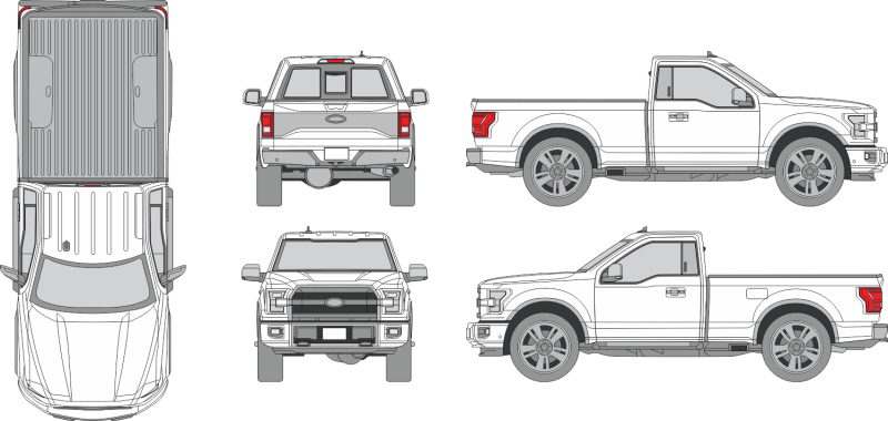 Ford F-150 Raptor 2019 Vehicle Template