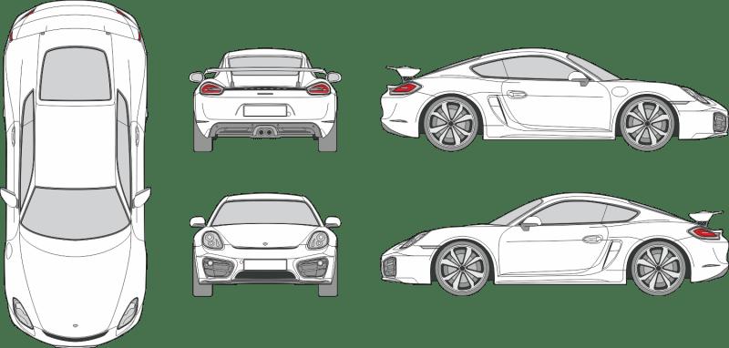 Porsche Cayman GT4 2021 Vehicle Template