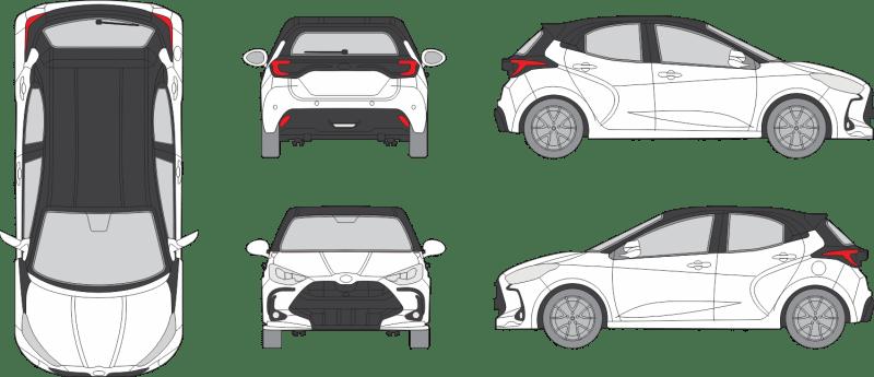 Toyota Yaris 2020 4-Door Vehicle Template