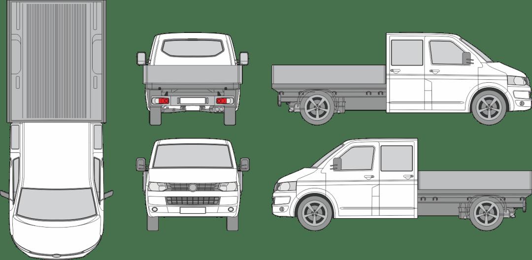 Volkswagen T5 Cargo Bed 2014 Vehicle Template