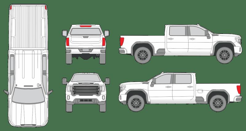 GMC Savana 2500 2020 Vehicle Template