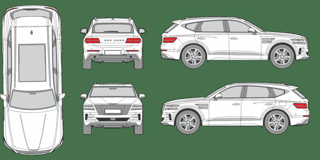 Genesis GV80 2020 Vehicle Template