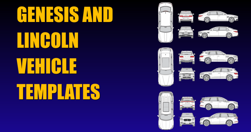 Genesis and Lincoln Vehicle Templates
