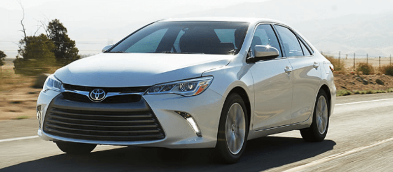 Image of the 2017 Toyota Camry on the road