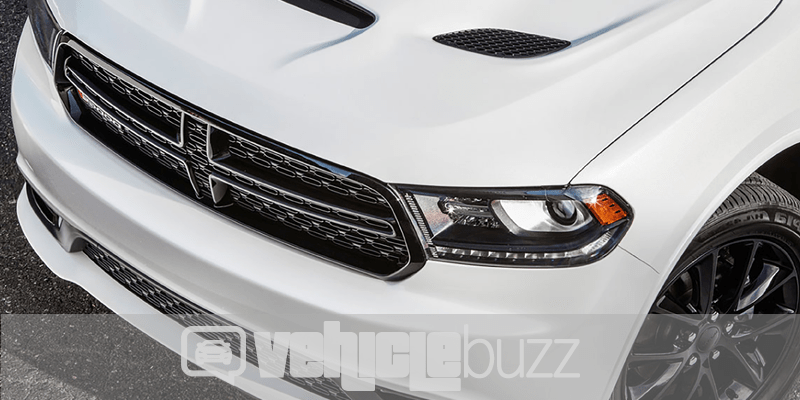 photo of grill of white 2018 Dodge Durango SRT