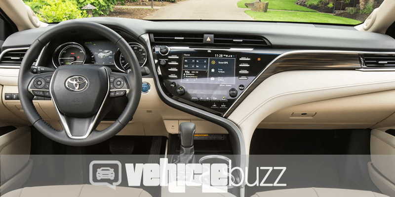 Photo of interior of 2018 Toyota Camry